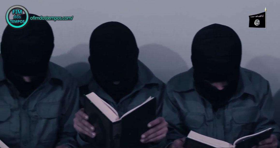 crianças do Estado Islâmico Estudando o Alcorão