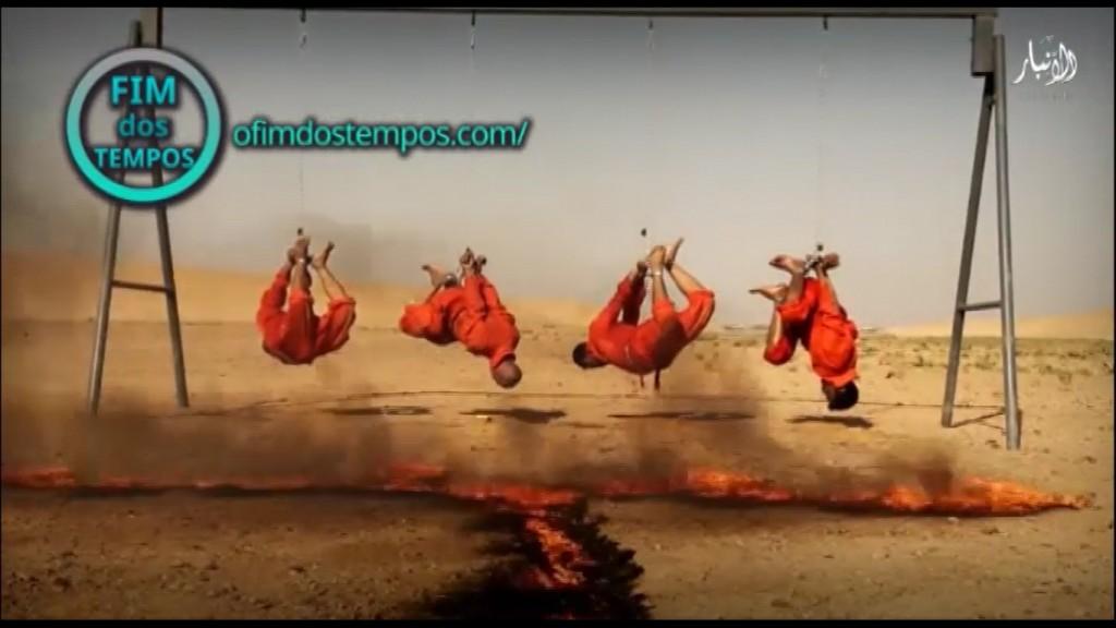 video-estado-islamico-queima-4-quatro-prisioneiros-vivos-acusados-de-queimarem-militantes-vivos-em-anbar-no-iraque